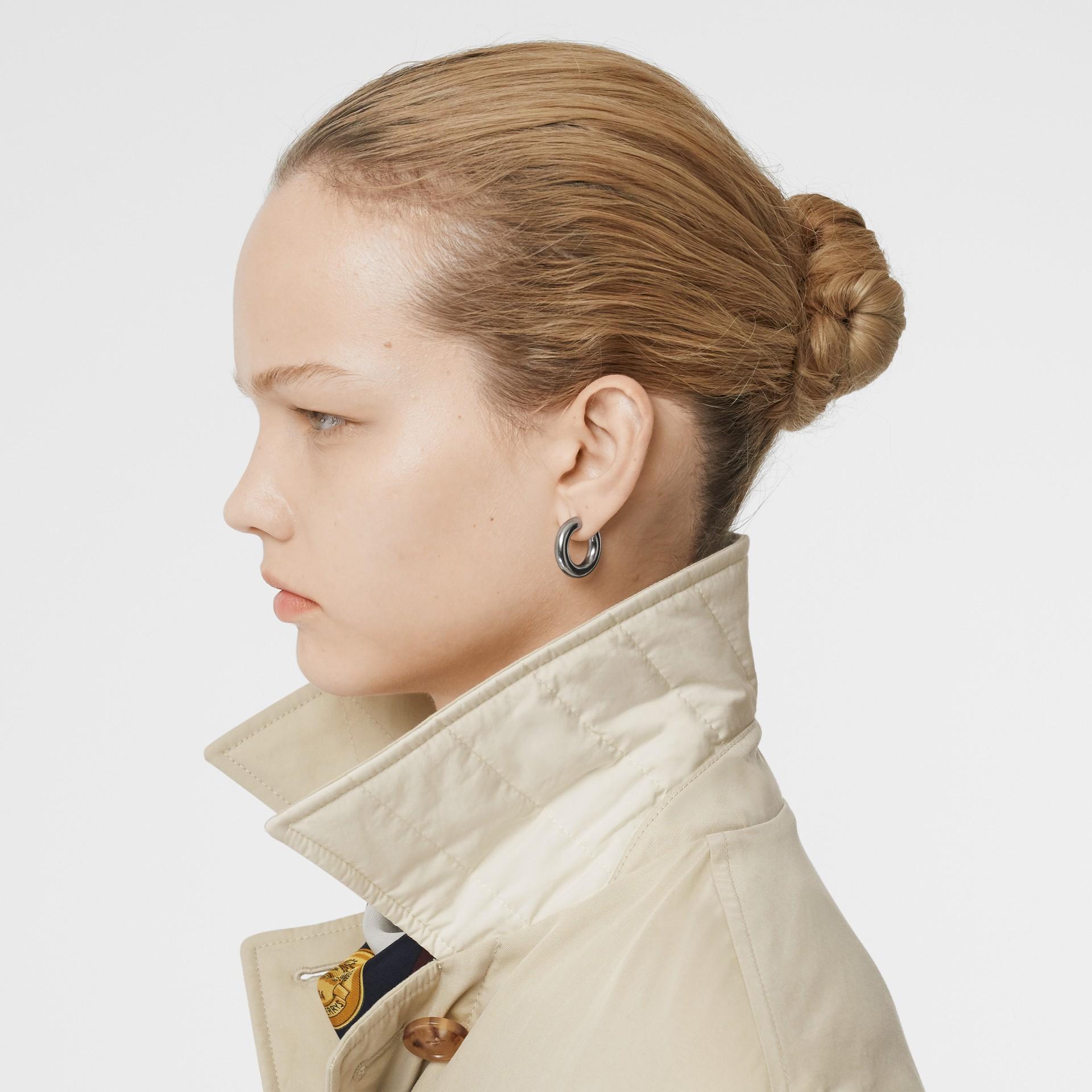 Giacca reversibile in cotone trapuntato (Bianco Naturale) - Donna | Burberry - immagine della galleria 4