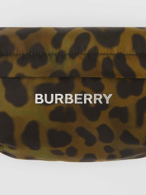 Medium Animal Print Bum Bag in Khaki Green - Men | Burberry - cell image 1