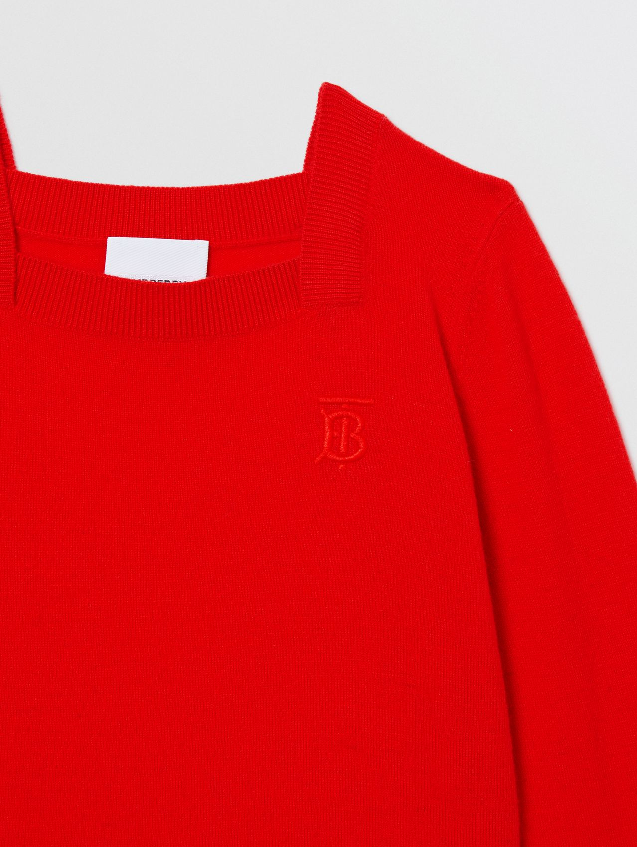 Monogram Motif Cashmere Sweater (Bright Red)