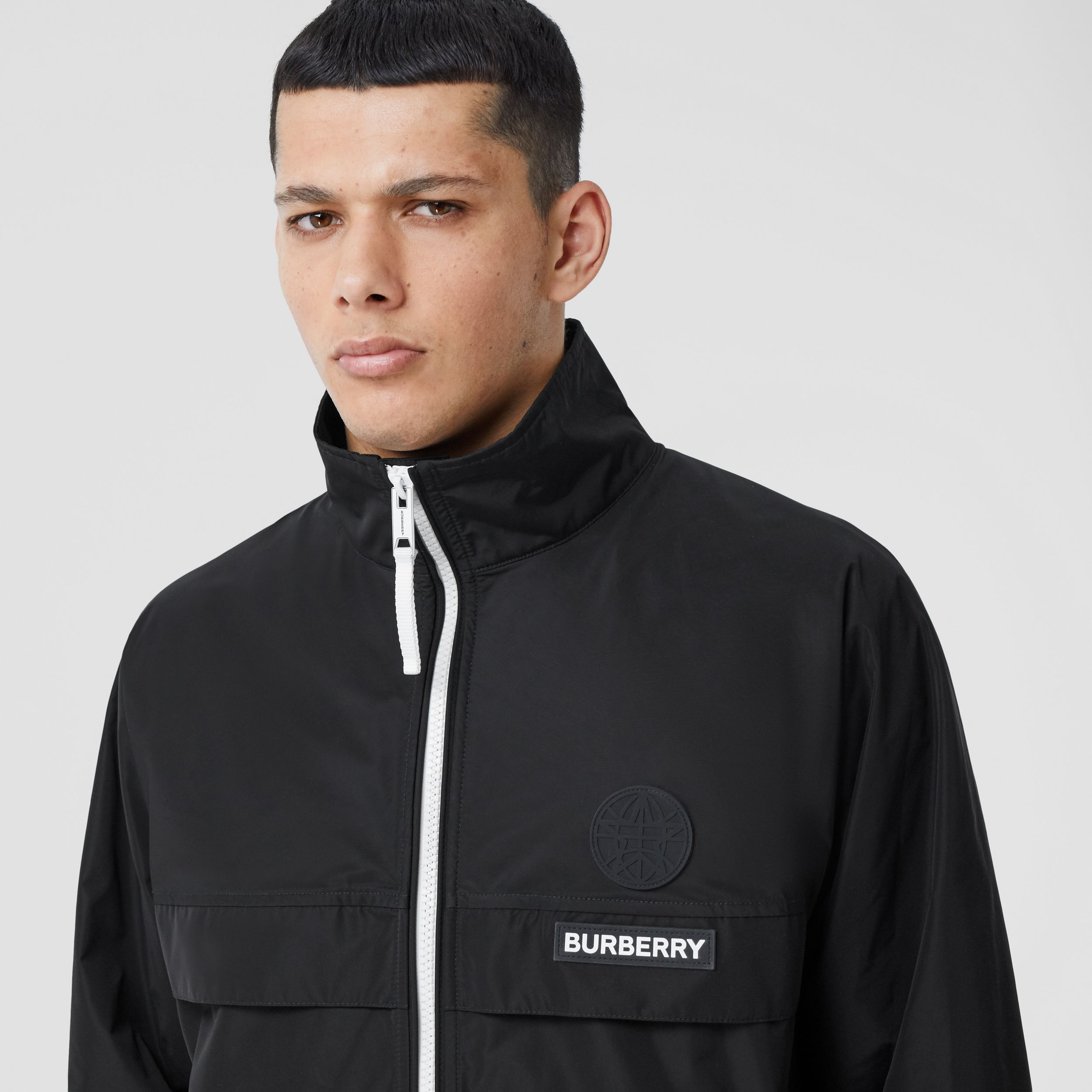 Globe Graphic Shape-memory Taffeta Jacket in Black - Men | Burberry - 2