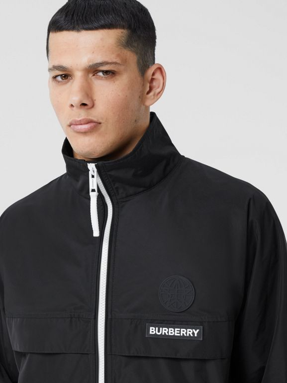 Globe Graphic Shape-memory Taffeta Jacket in Black - Men | Burberry Hong Kong S.A.R - cell image 1