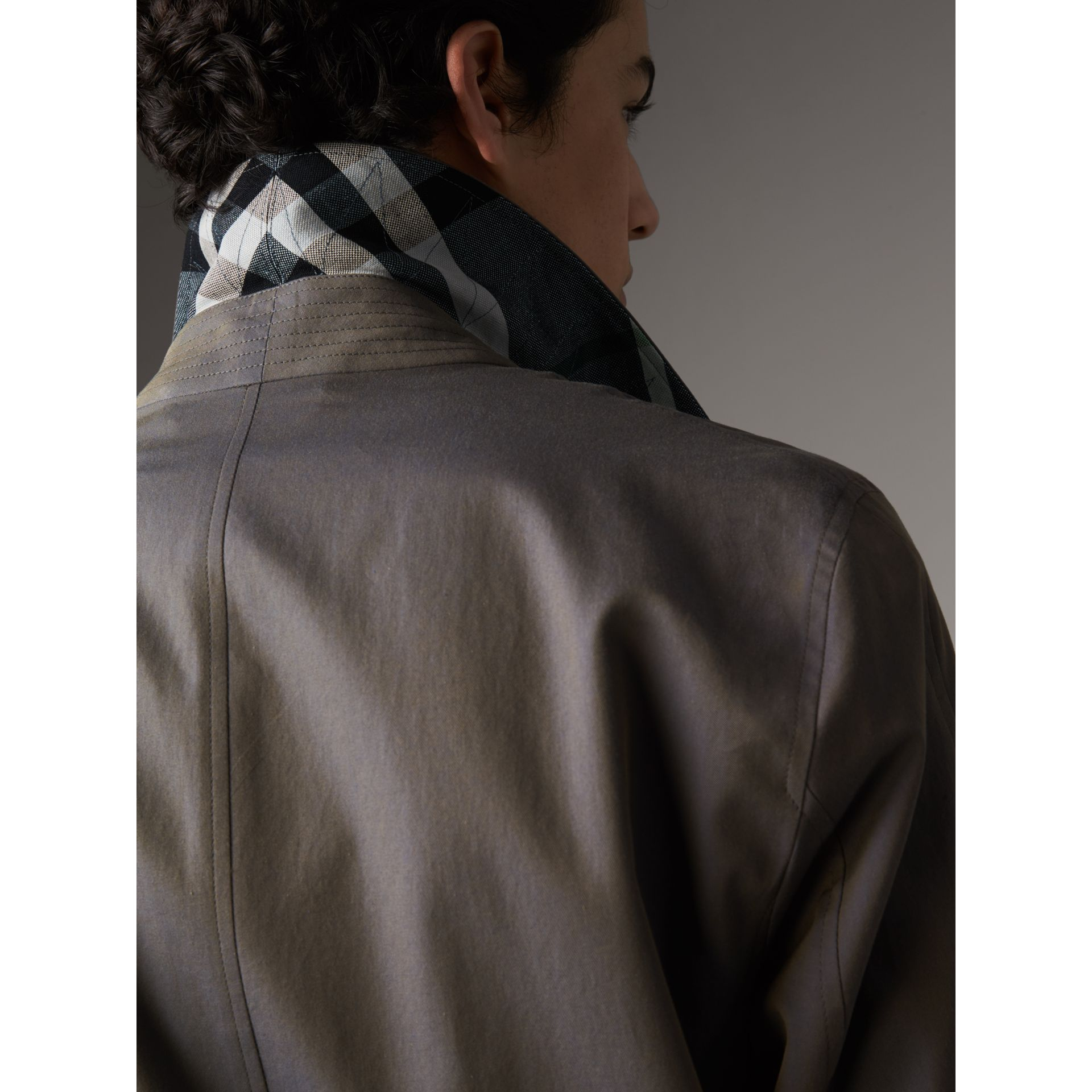 Tropical Gabardine Car Coat in Storm Blue - Men | Burberry - gallery image 5