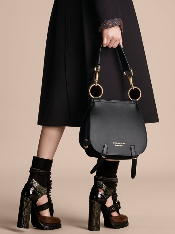 The Bridle Bag in Leather in Black - Women | Burberry - cell image 2
