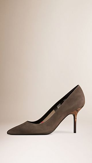 Point-Toe Nubuck Pumps