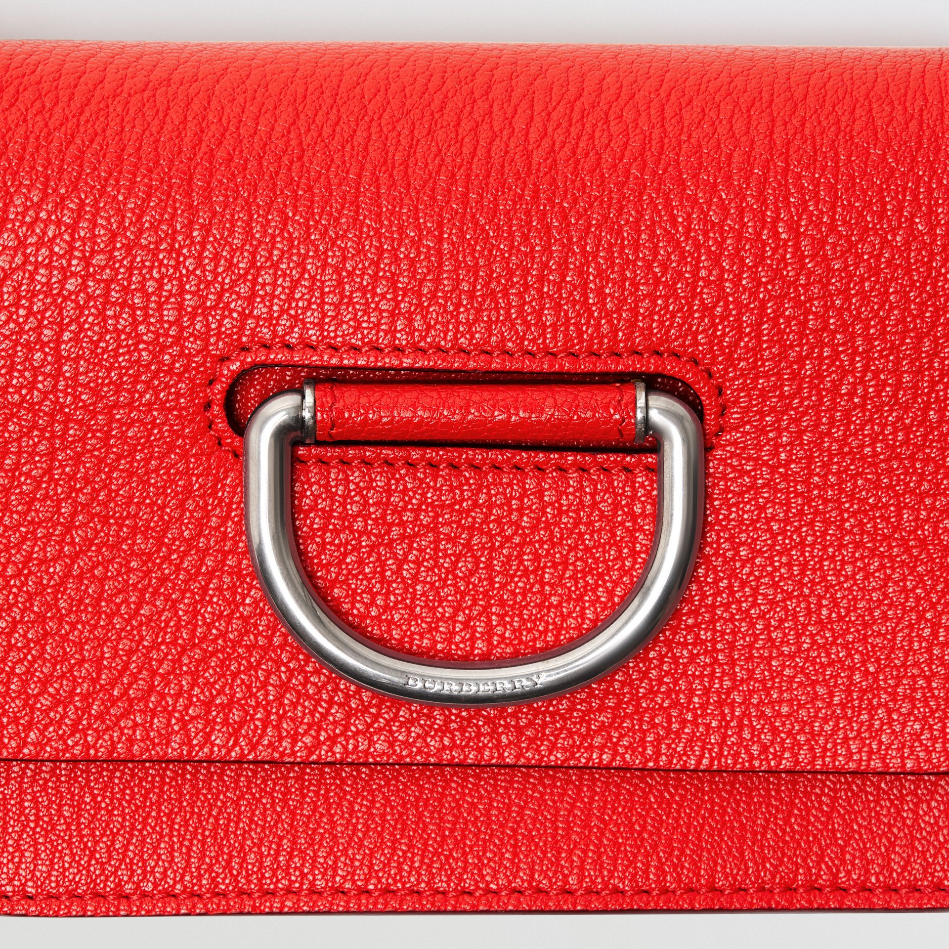 The Mini Leather D-ring Bag in Bright Red - Women | Burberry - gallery image 1