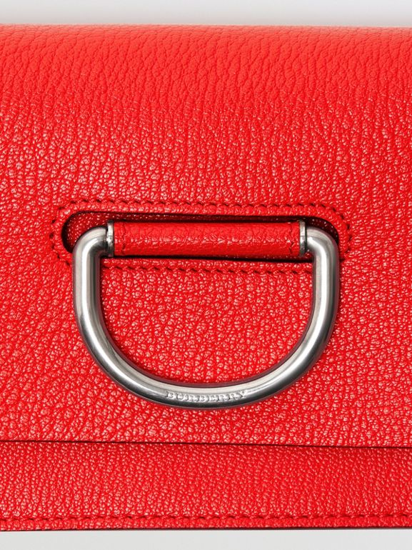 Mini sac The D-ring en cuir (Rouge Vif) - Femme | Burberry Canada - cell image 1