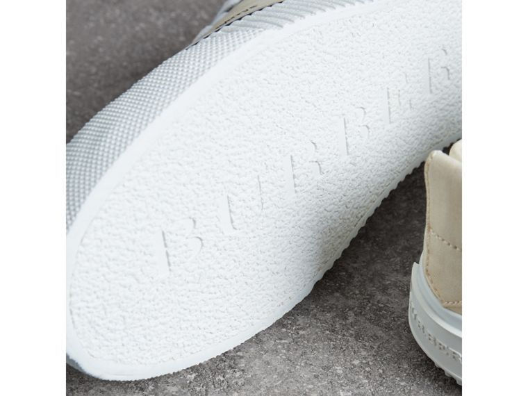Archive Logo Cotton Gabardine Sneakers in Off White - Men | Burberry - cell image 1