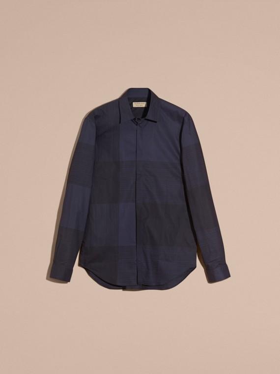 海軍藍 格紋棉質襯衫 海軍藍 - cell image 3