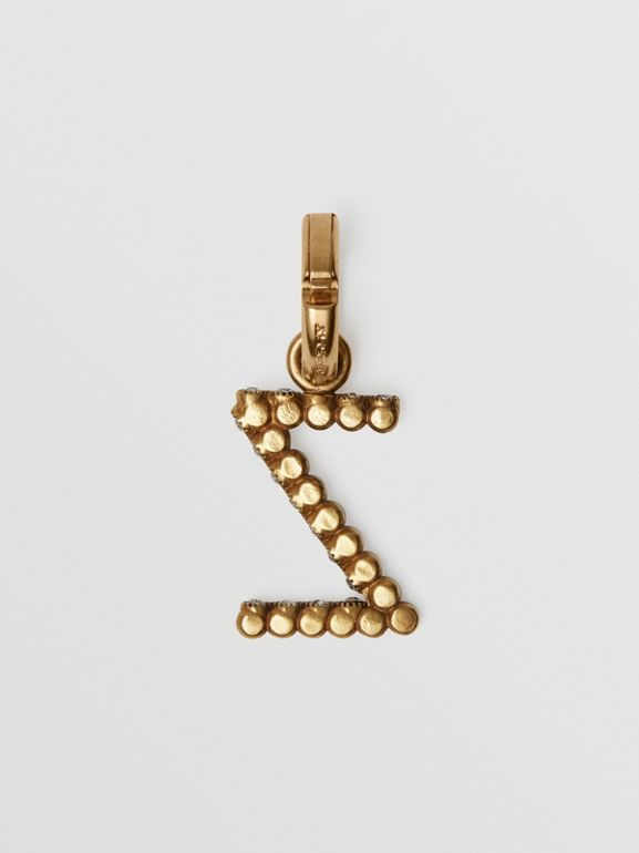 Crystal 'Z' Alphabet Charm - Women | Burberry United States - cell image 1