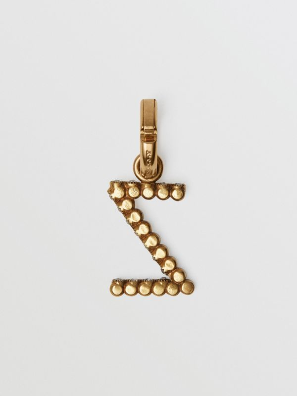 Crystal 'Z' Alphabet Charm - Women | Burberry Hong Kong - cell image 3