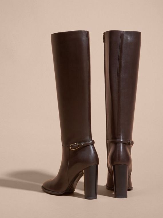 Chestnut Knee-high Leather Boots - cell image 3