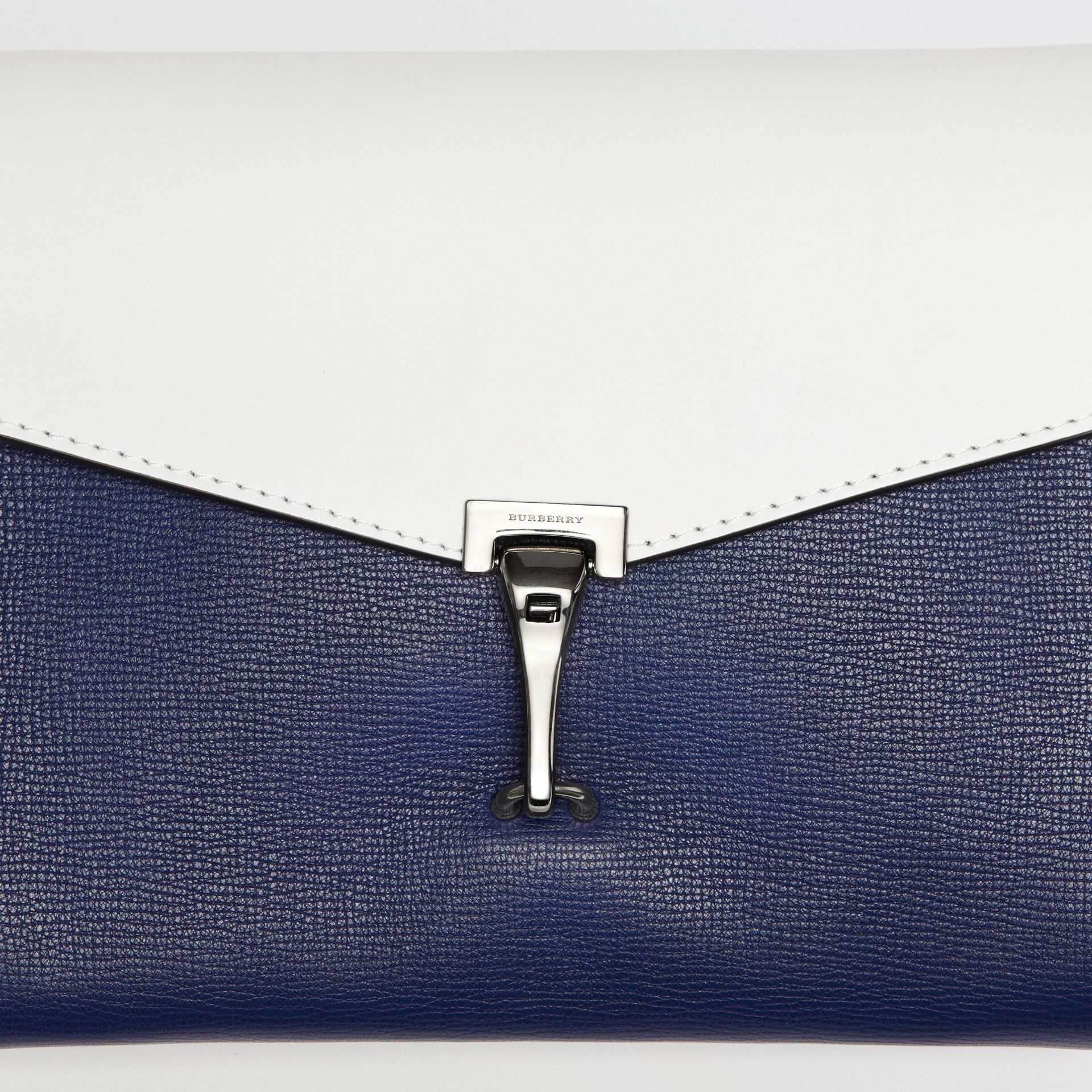 Two-tone Leather Crossbody Bag in Regency Blue/chalk White - Women | Burberry Hong Kong - gallery image 1