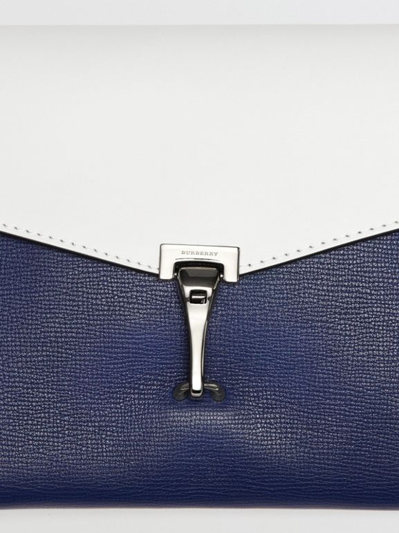 Two-tone Leather Crossbody Bag in Regency Blue/chalk White - Women | Burberry Australia - cell image 1
