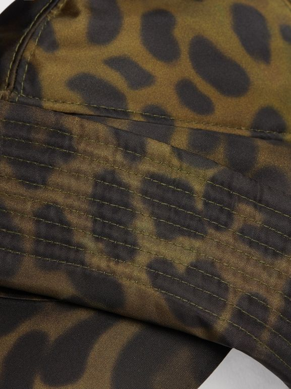 Animal Print Rain Hat in Light Green - Men | Burberry - cell image 1