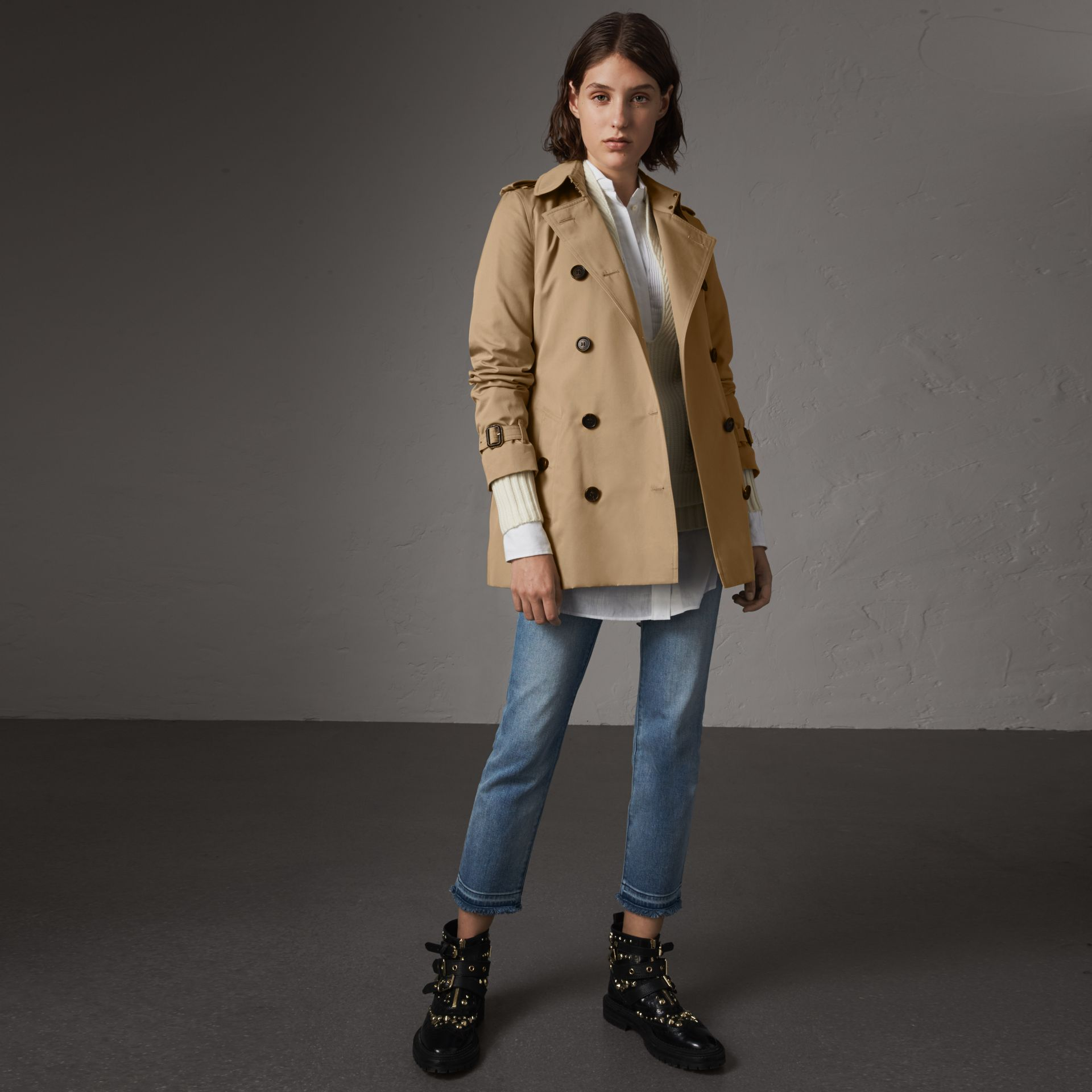The Kensington – Kurzer Trenchcoat (Honiggelb) - Damen | Burberry - Galerie-Bild 0