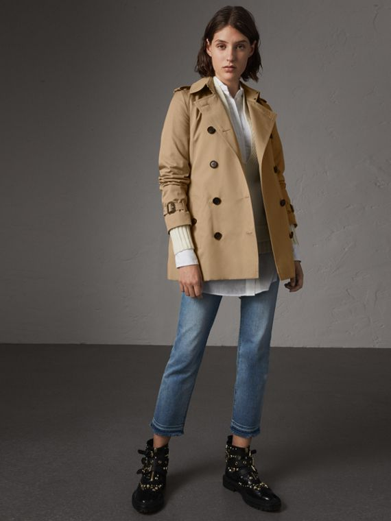 The Kensington – Kurzer Trenchcoat (Honiggelb)
