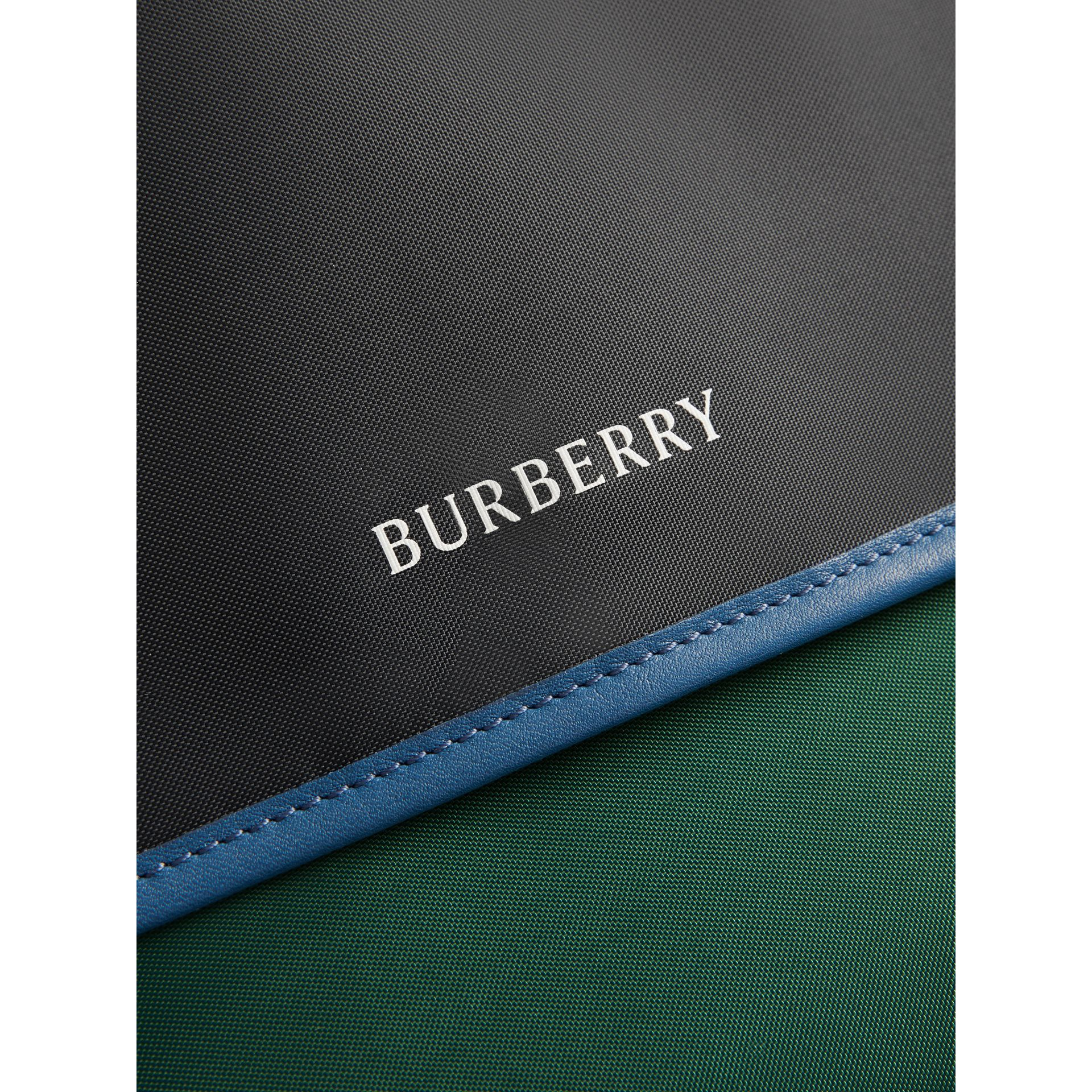 Large Tri-tone Nylon and Leather Messenger Bag in Black - Men | Burberry Hong Kong - gallery image 1