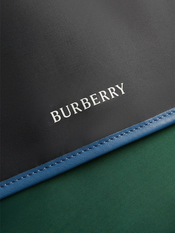 Large Tri-tone Nylon and Leather Messenger Bag in Black - Men | Burberry Australia - cell image 1