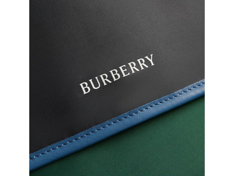 Large Tri-tone Nylon and Leather Messenger Bag in Black - Men | Burberry United Kingdom - cell image 1