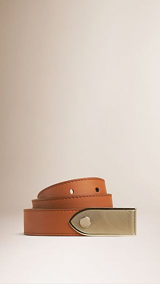 Plaque Buckle Leather Belt