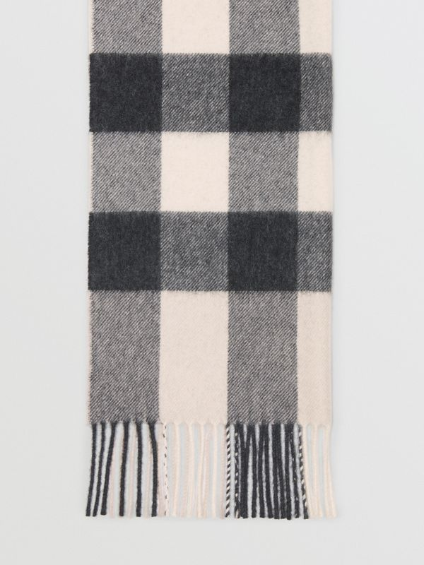 Check Cashmere Scarf in Stone | Burberry - cell image 3