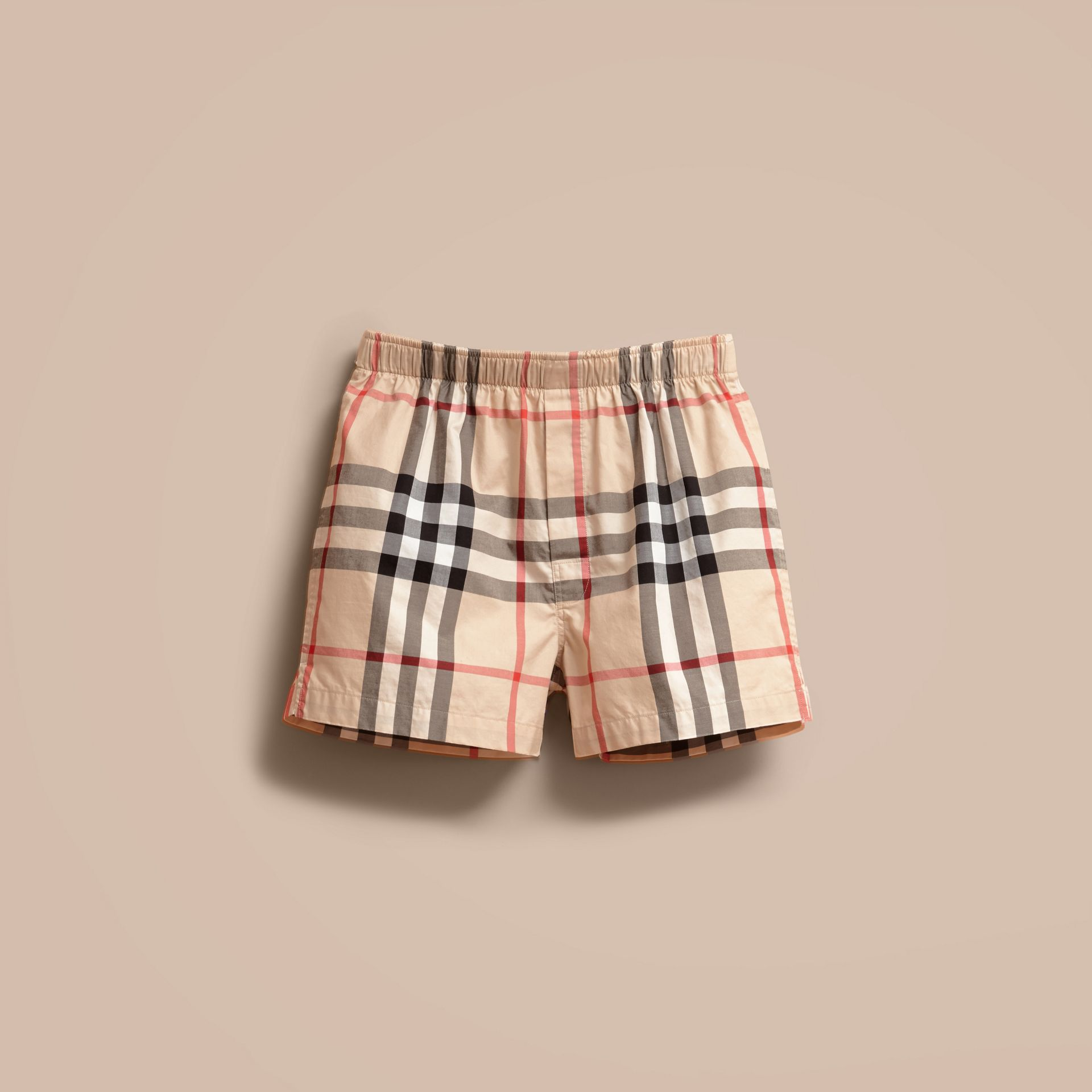 Check Twill Cotton Boxer Shorts in New Classic - Men | Burberry - gallery image 4
