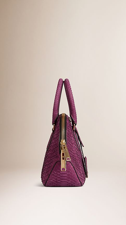 Damson magenta The Small Orchard in Nubuck Python - Image 4