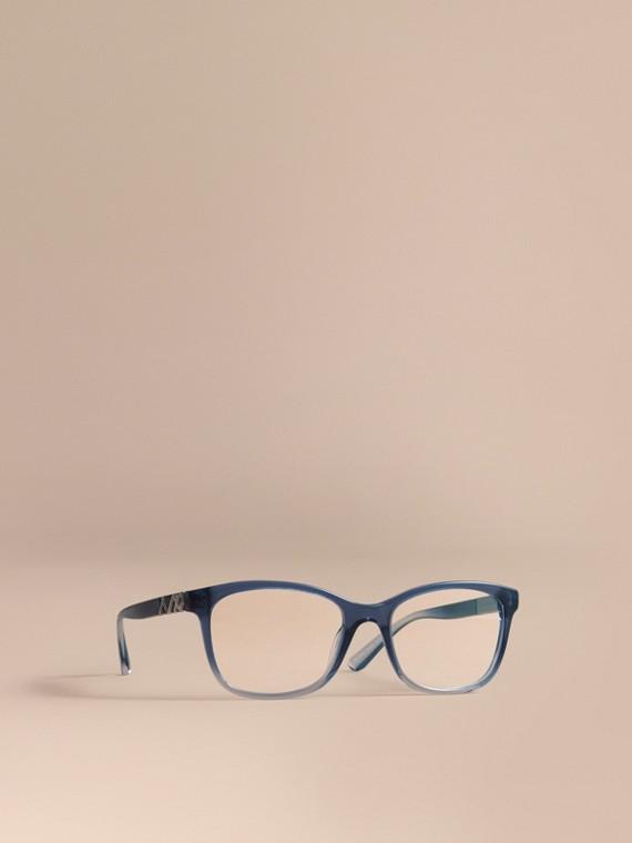 Monture carrée pour lunettes de vue avec motif check