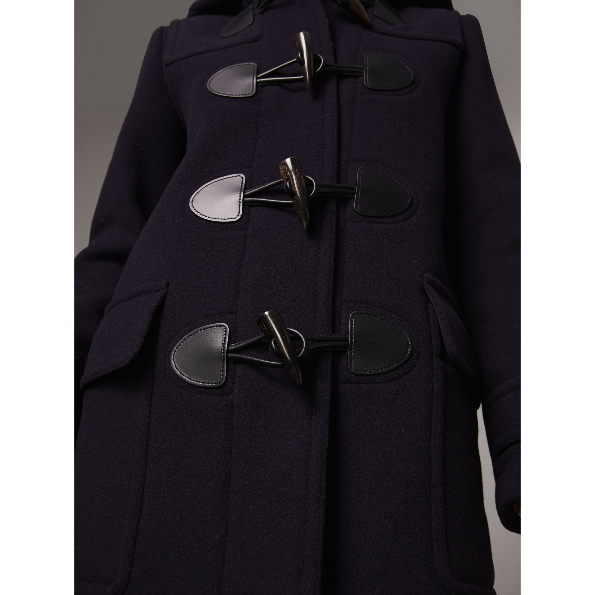 The Mersey Duffle Coat in Navy - Women | Burberry - gallery image 4