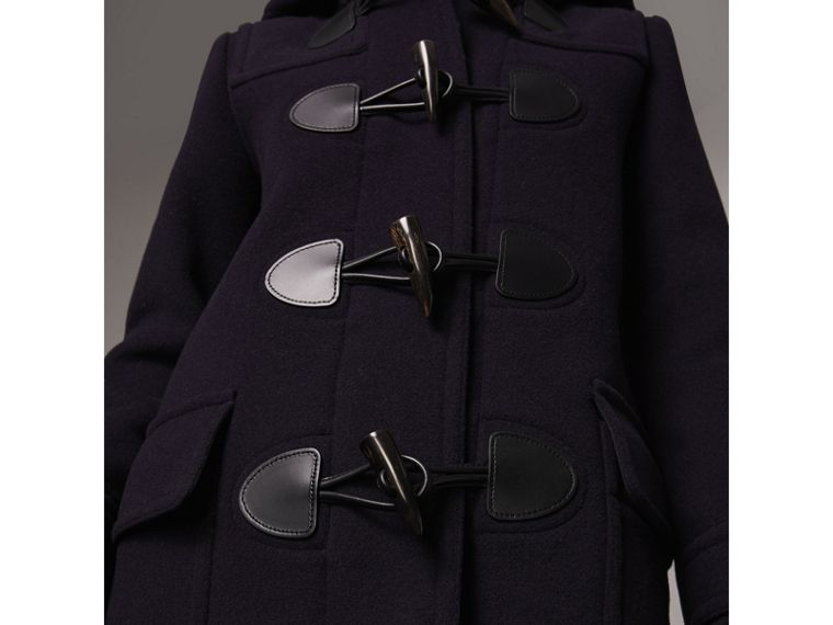 The Mersey Duffle Coat in Navy - Women | Burberry - cell image 4