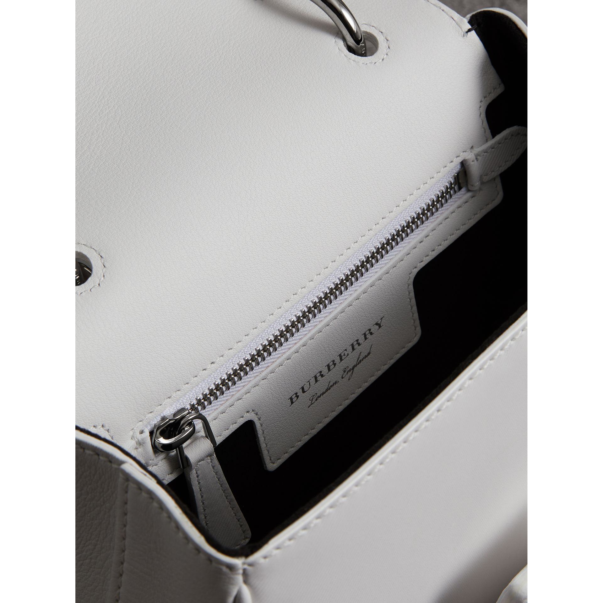 The Small DK88 Top Handle Bag in Chalk White - Women | Burberry - gallery image 4