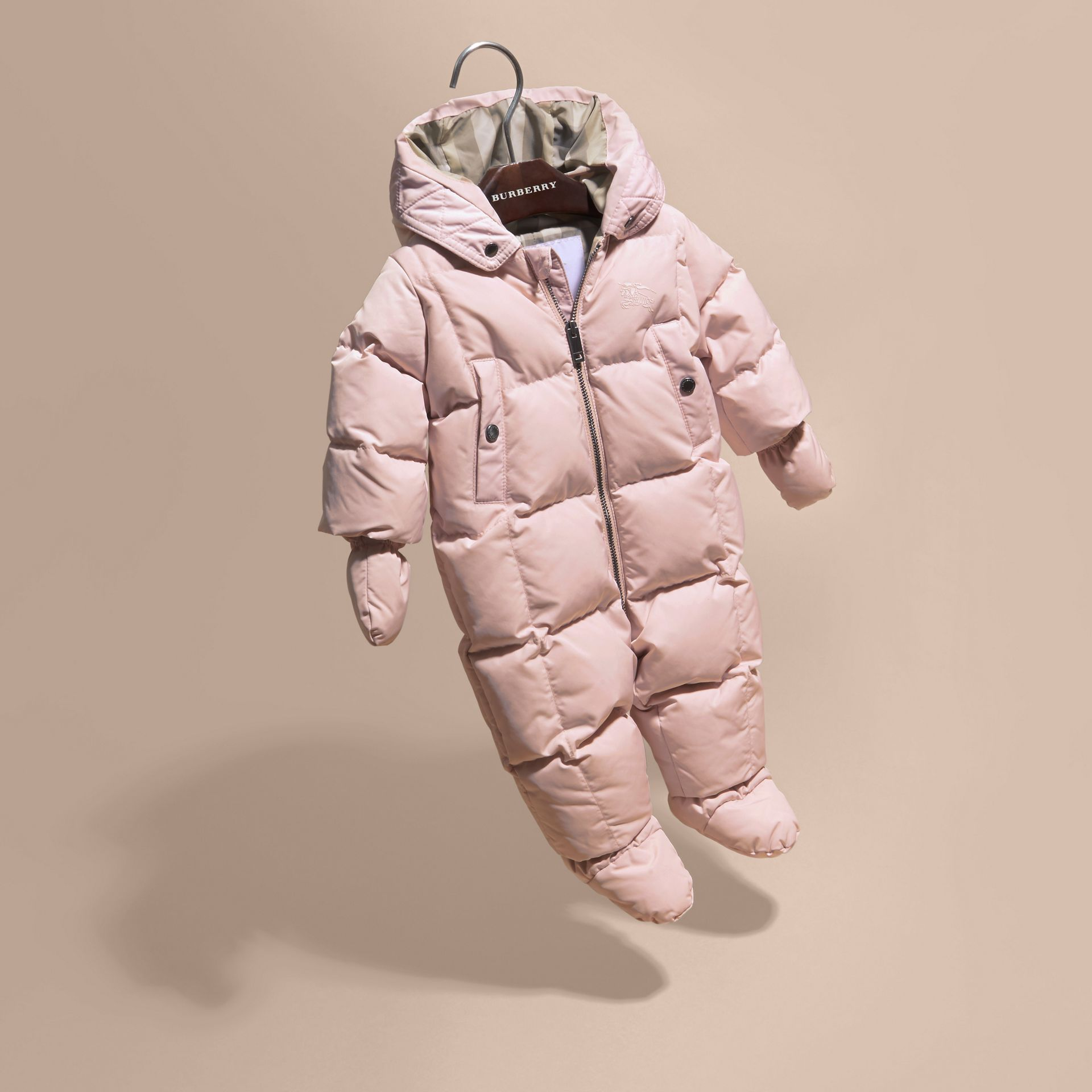 Powder pink Down-filled Puffer Suit Powder Pink - gallery image 3