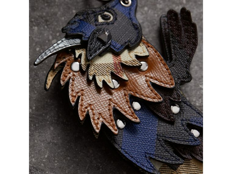 Beasts Leather Key Ring in Bright Lapis - Men | Burberry - cell image 1