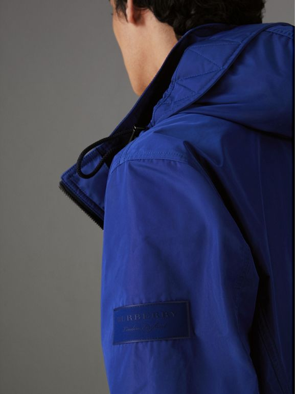 Packaway Hood Showerproof Jacket in Jet Blue - Men | Burberry United Kingdom - cell image 1