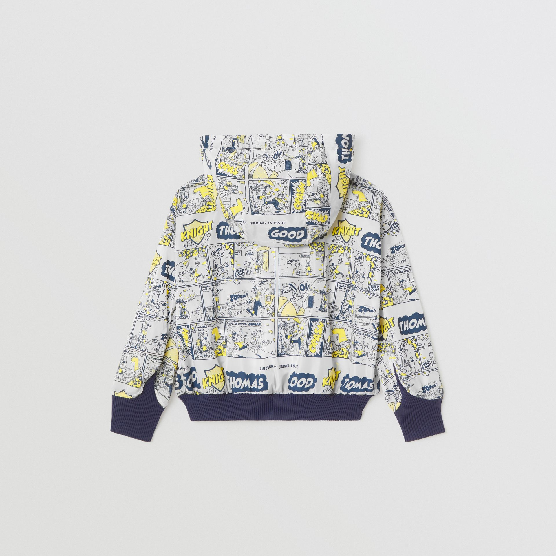Comic Strip Print Lightweight Hooded Jacket in Citron | Burberry United Kingdom - gallery image 2
