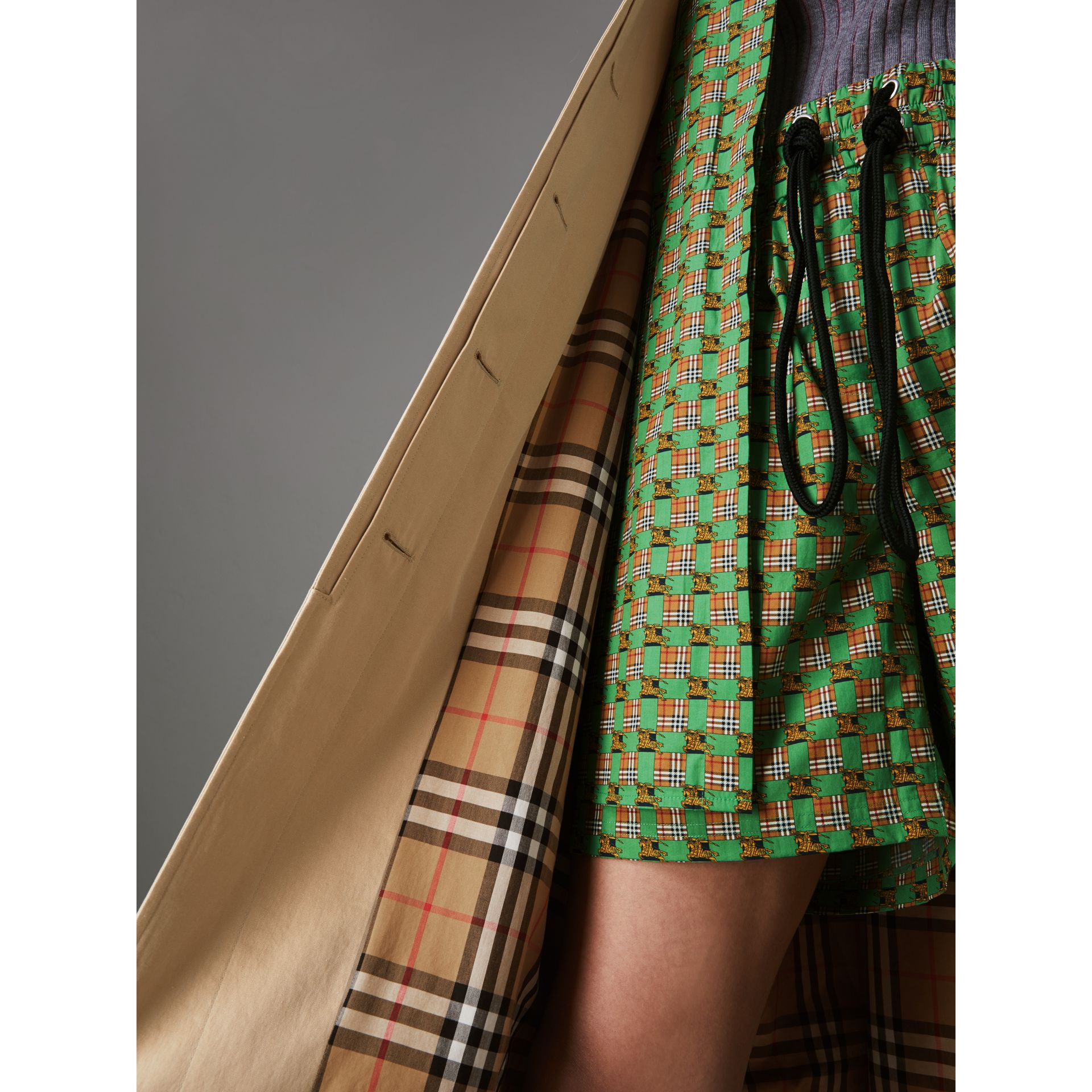 Detachable Hood Tropical Gabardine Car Coat in Honey - Women | Burberry - gallery image 1