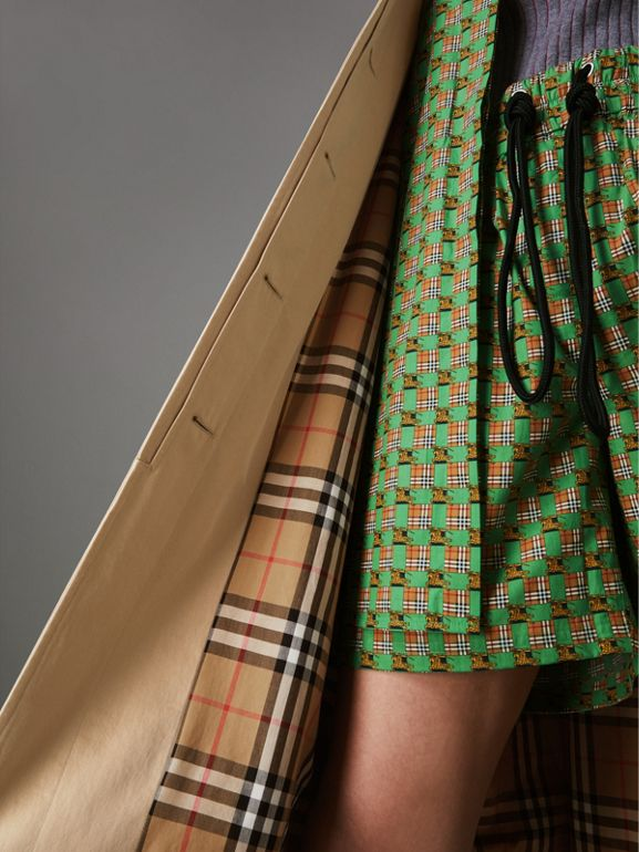 Detachable Hood Tropical Gabardine Car Coat in Honey - Women | Burberry Hong Kong - cell image 1