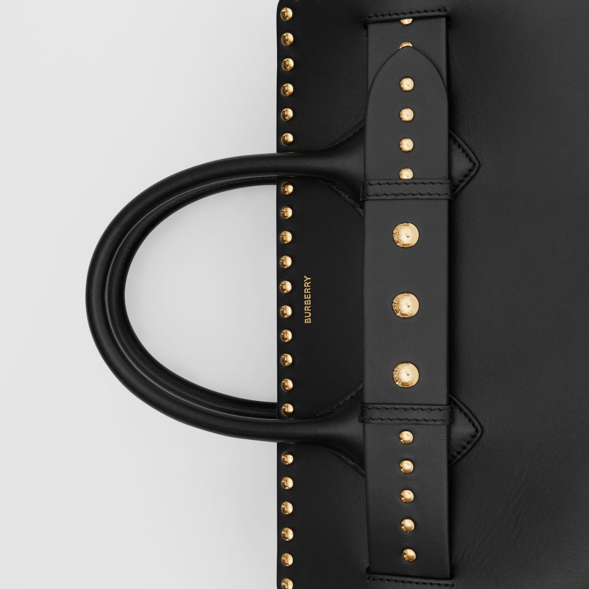 The Medium Studded Leather Triple Stud Belt Bag in Black - Women | Burberry Australia - gallery image 1