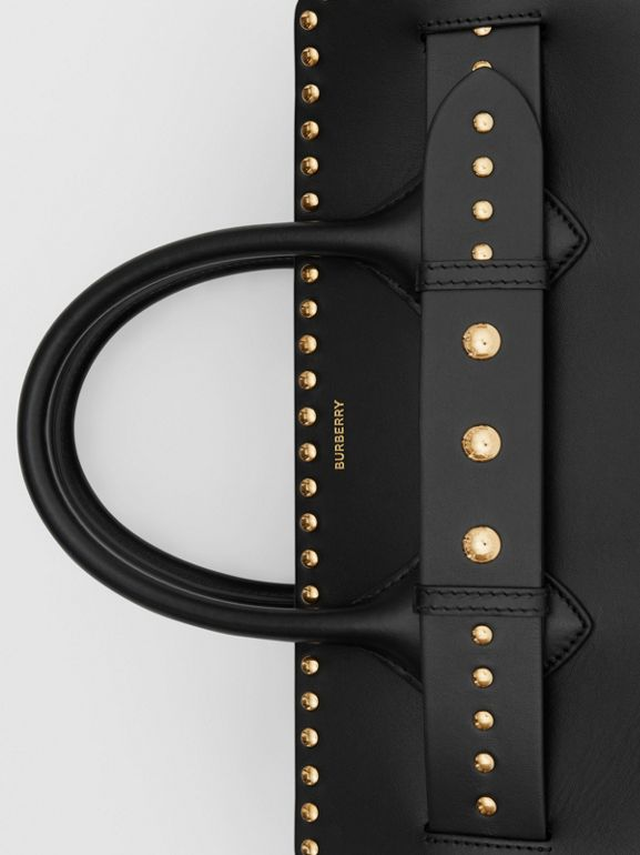 The Medium Studded Leather Triple Stud Belt Bag in Black - Women | Burberry Australia - cell image 1