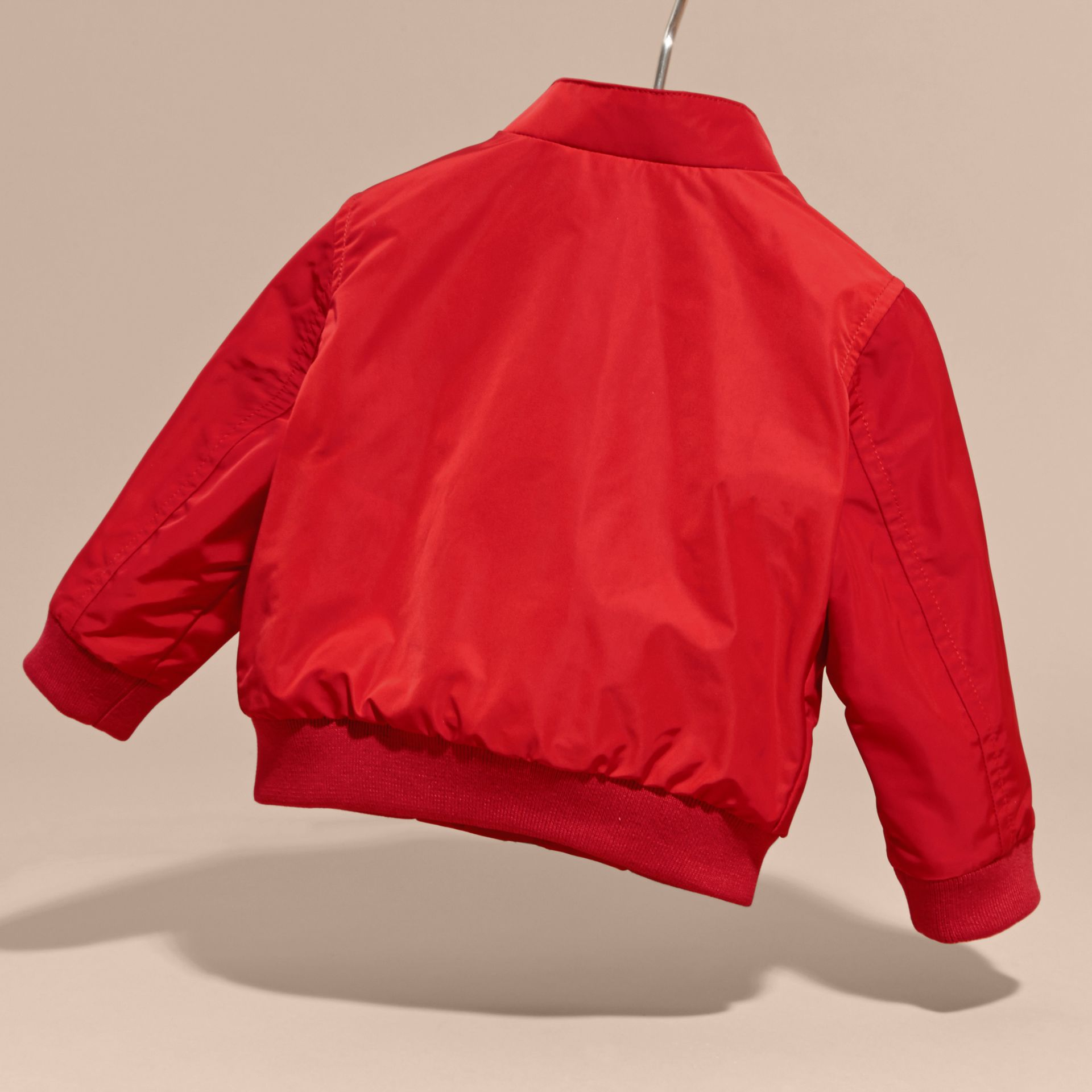 Technical Packaway Jacket in Military Red | Burberry - gallery image 4