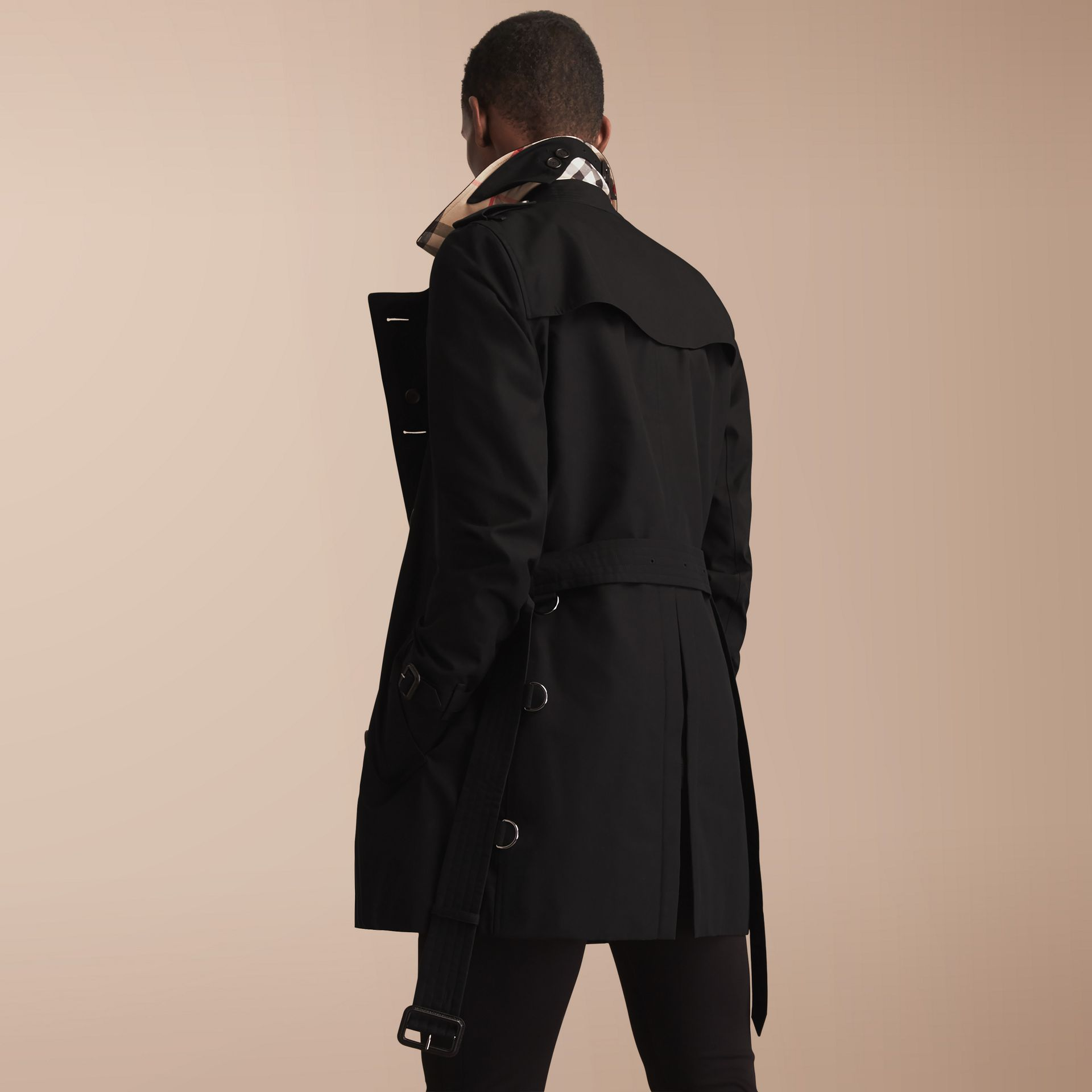 The Sandringham – Mid-length Heritage Trench Coat Black - gallery image 3