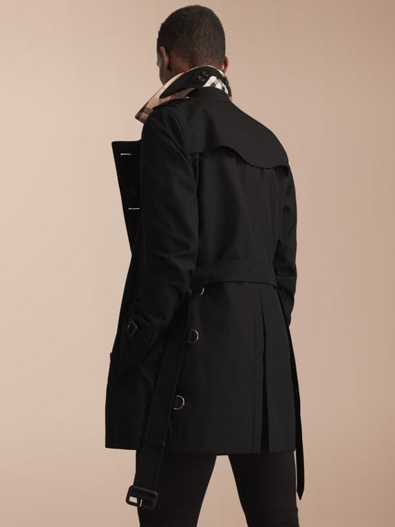 The Sandringham – Mid-length Heritage Trench Coat Black - cell image 2