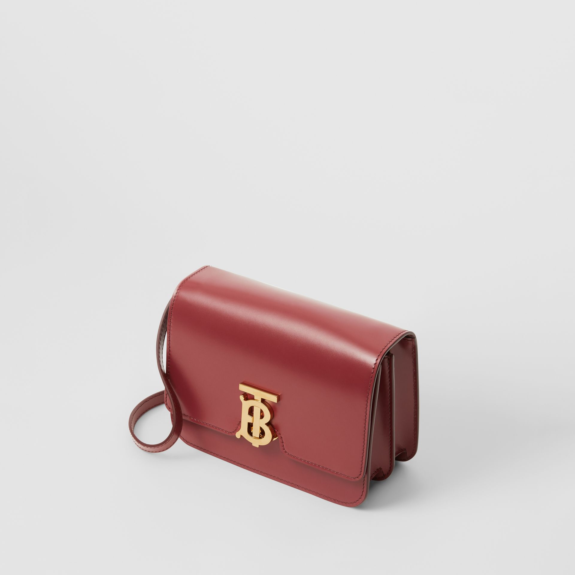 Small Leather TB Bag in Crimson - Women | Burberry - gallery image 2
