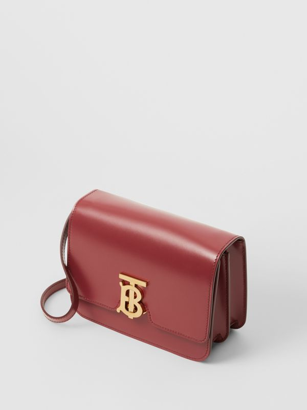 Small Leather TB Bag in Crimson - Women | Burberry - cell image 2