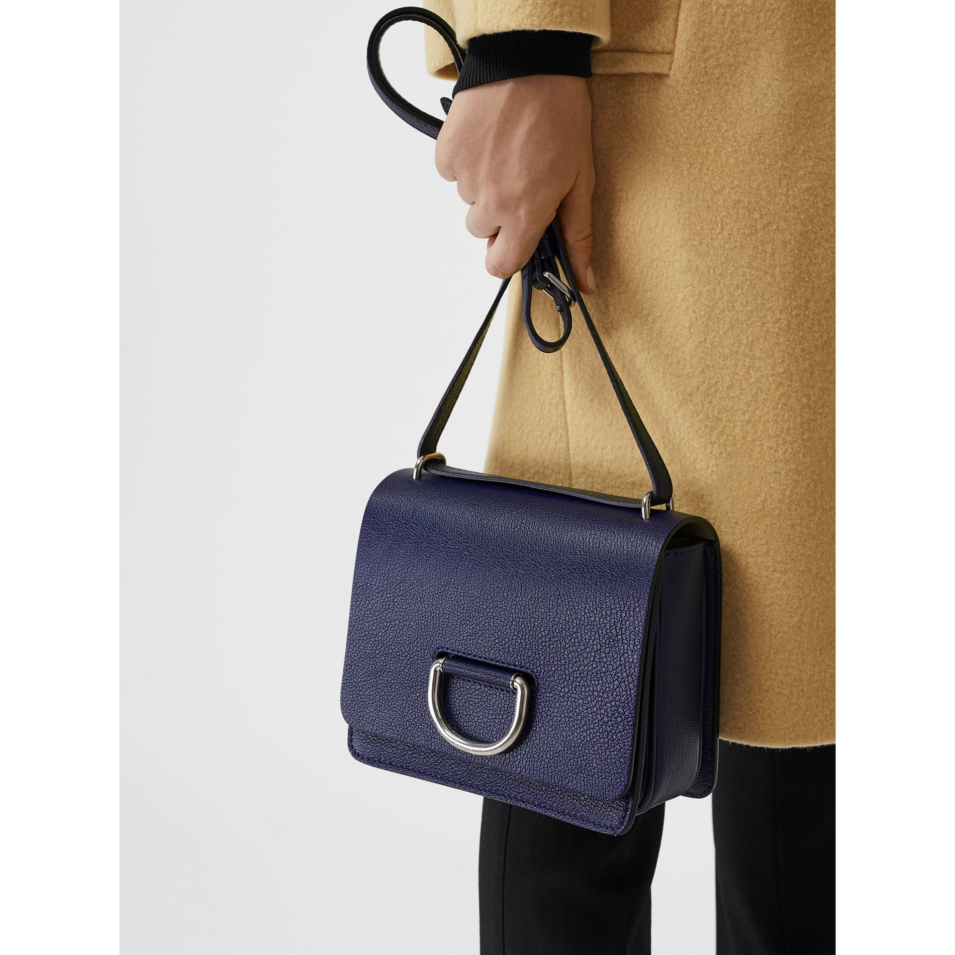 The Small Leather D-ring Bag in Regency Blue - Women | Burberry United Kingdom - gallery image 3