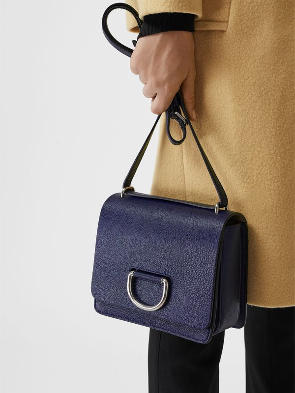 The Small Leather D-ring Bag in Regency Blue - Women | Burberry - cell image 3