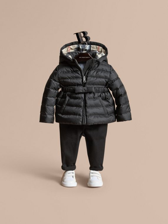 Bow Detail Puffer Jacket