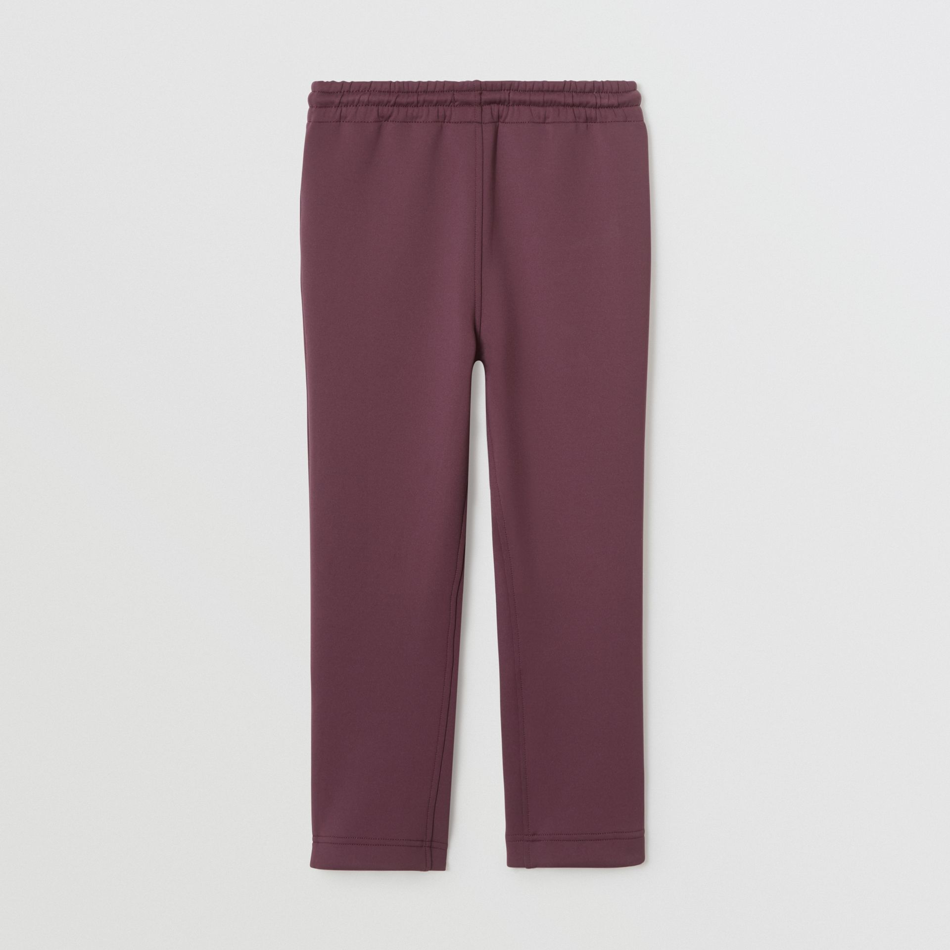 Logo Print Lightweight Trackpants in Claret | Burberry United Kingdom - gallery image 4
