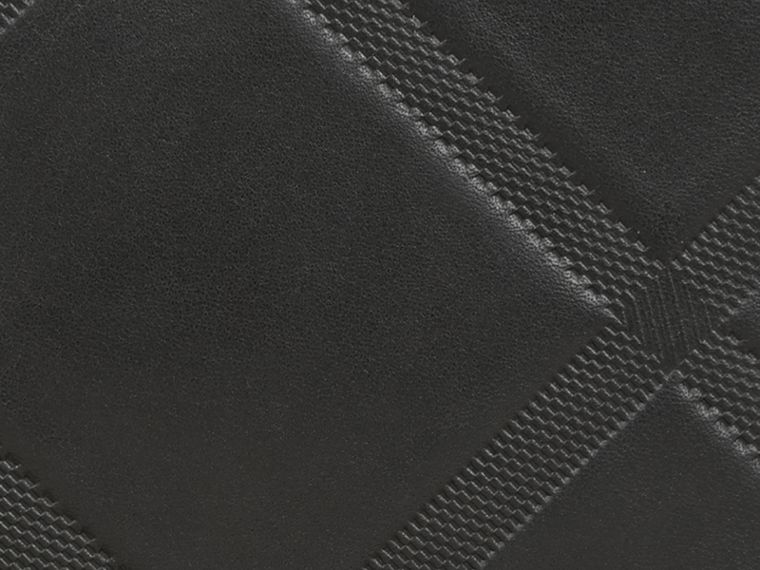 Black Check-embossed Leather Folding Wallet Black - cell image 1