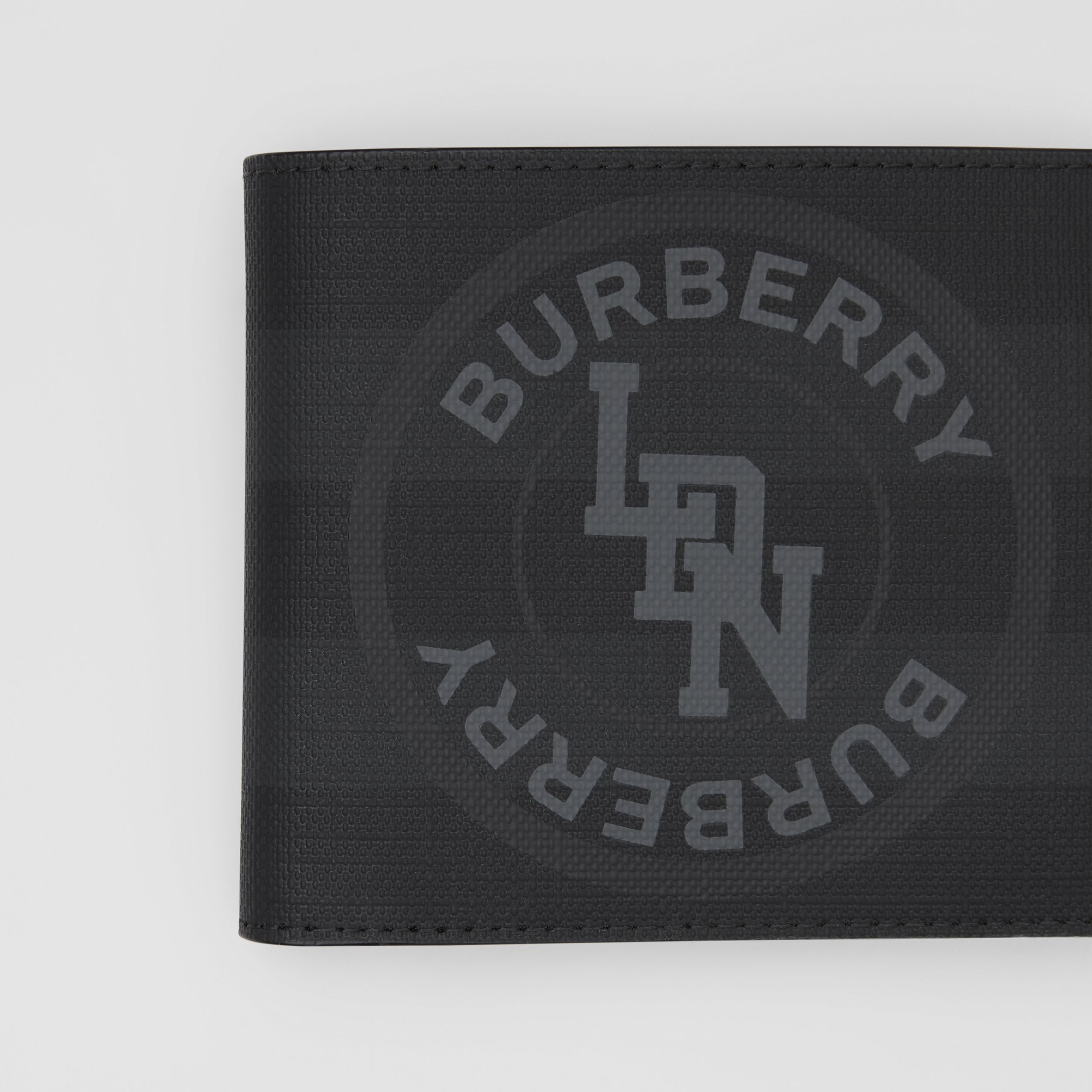 Logo Graphic International Bifold Coin Wallet in Dark Charcoal - Men | Burberry - 2